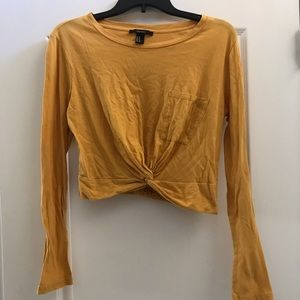 Cropped Yellow Long Sleeve